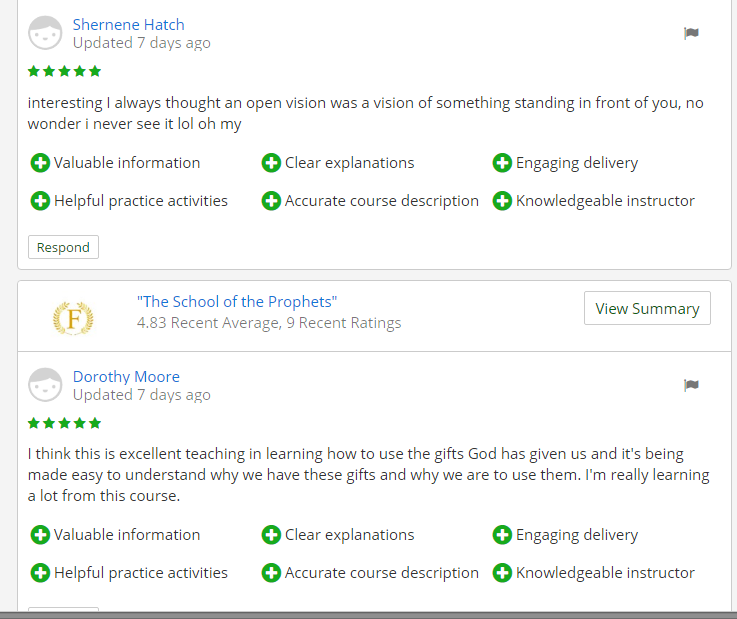 School of the prohets reviews