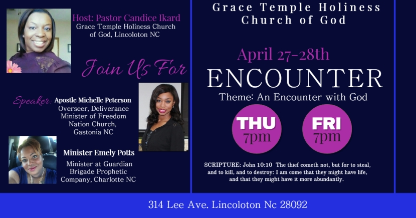 Encounters with God: April 27-282017