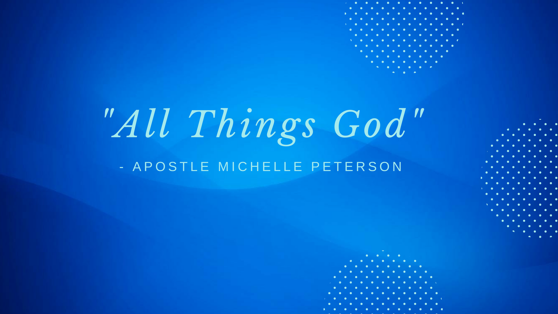Apostle Michelle Peterson