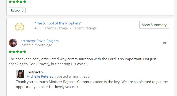 School of the Prophets – Prophetic Adviser