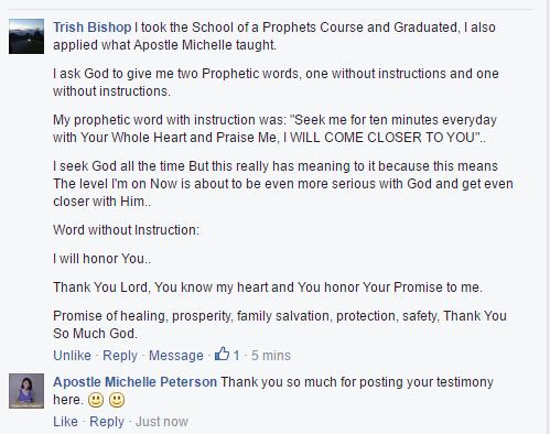 School of the Prophets – Apostle Michelle Peterson